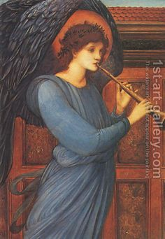 Sir Edward Coley Burne-Jones:The Angel 1881
