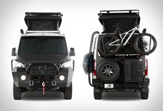 Californian company Exclusive Outfitters specialize in custom Sprinter Van buildouts and conversions. Outfitted for adventure, they customize Mercedes-Benz Sprinter vans for overlanding, camping, … Sprinter Van, Vans Mercedes Benz, Ambulance, Sleeping In Your Car, Motorcycle Workshop, Sprinter Conversion, Van Design, 4x4, Life Car