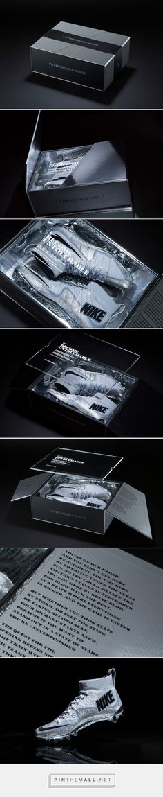 Nike Football Untouchable Shoes Packaging by Hovercraft Studio Cool Packaging, Luxury Packaging, Brand Packaging, Phone Packaging, Design Agency, Branding Design, Little Buddha, Packaging Design Inspiration, Box Design