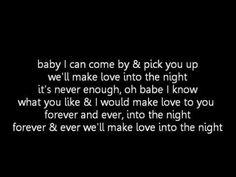 Usher - Making love into the night (lyrics)