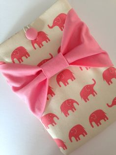 iPad Mini Sleeve iPad Mini Case iPad Mini Cover Kindle Nook Nexus Pink Elephants with Bow on Etsy, $34.99