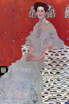 Fritza Reidler Klimt. High quality vintage art reproduction by Buyenlarge. One of many rare and wonderful images brought forward in time. I hope they bring you pleasure each and every time you look at