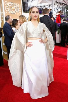 Jemima Kirke, in Rosie Assoulin The 2015 Golden Globe Awards: Live From the Red Carpet - Gallery - Style.com