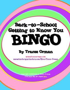 Quick first day icebreaker game of Bingo.  Students find others that can answer