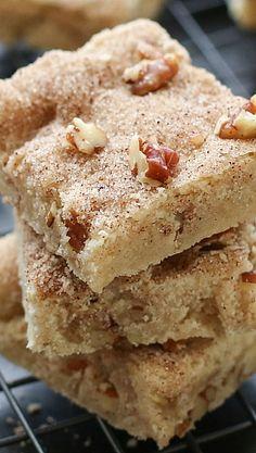 Cinnamon Pecan Shortbread Bars