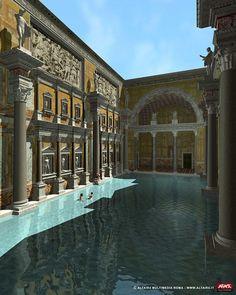Ancient Roman Baths - Thermae, Baths of - Caracalla, Diocletian, Trajan - Crystalinks