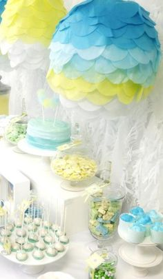 hot air balloon baby shower ideas 4
