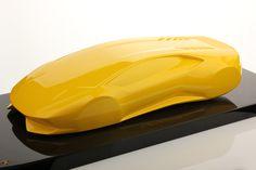 Lamborghini Huracán LP 610-4 in Metallic Yellow on Carbon Base (MR Collection 1:12 scale)