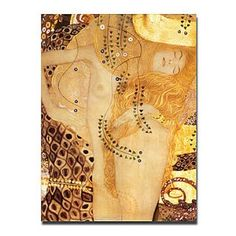 Sea Serpent, c.1907 Oil Painting by Gustav Klimt Free Shipping