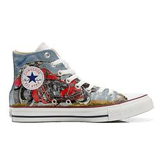 Scarpe Converse All Star personalizzate (Prodotto Artigianale) Indiana Motor - TG46 - http://on-line-kaufen.de/make-your-shoes/46-eu-converse-all-star-personalisierte-schuhe-54