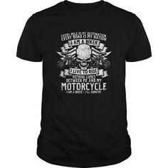 I Am A Biker, I Live To Ride - Biker T-Shirts & Hoodies