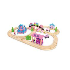 "Imaginarium Around Town Railway - Toys R Us - Toys ""R"" Us $36.99 Or get the plain extra track from Ikea"