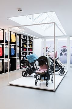 there was never any doubt in my mind as to what would become our stroller when we would start having babies. it was always going to be a BUGABOO. somehow, these strollers managed to make . Bugaboo Stroller, Baby Strollers, Baby Store Display, Boutique Interior, Retail Interior, Kids Store, Shops, Baby Shop, Retail Design