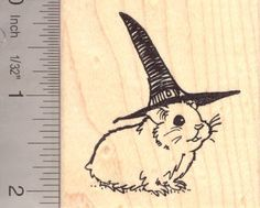 Hamster Witch Halloween Rubber Stamp *** Details can be found by clicking on the image.