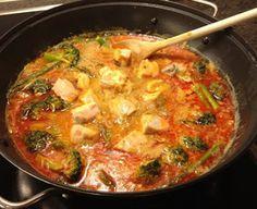 Asiatisk Laksa suppe