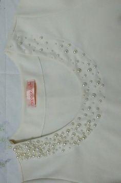 Blusa  pleplum bordada