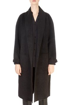 Everyone needs a piece or two from Eileen Fisher's collections in their wardrobe – you'll wear its staples time and again. This Charcoal Black Shawl Collar Coat is ideal for Winter weather. It features a lovely loose fit and extra large front pockets. Down Puffer Coat, Down Coat, Green Parka, Cashmere Color, Black Down, Charcoal Black, Winter Coats Women, Eileen Fisher, Shawl