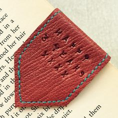 Last of the pale wine red leather bookmark happy it's going to a happy 3 year anniversary home.