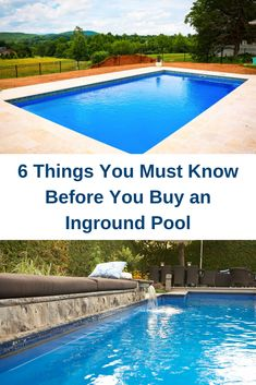Buying an inground pool is a big deal and it requires a lot of research. This guide will provide the initial concerns that you need to consider before taking your next steps towards getting an inground pool. ideas with slide and diving board Oberirdischer Pool, Buy A Pool, Small Inground Pool, Inground Pool Designs, Swimming Pools Backyard, Swimming Pool Designs, Pools Inground, Fiberglass Inground Pools, Pool Sizes Inground