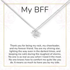 Best Friends Lotus Necklace - Perfect gift for your BFF, bestie, special friend, forever girl group, Lotus– Dear Ava Best Friend Notes, Happy Birthday Best Friend Quotes, Letter To Best Friend, Message For Best Friend, Birthday Wishes For Sister, To My Best Friend, Best Friend Birthday Letter, Quotes For Best Friends, Closest Friends