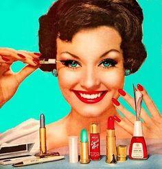 Maquiagem retrô, está com tudo!!!