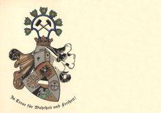 Couleurkarte der 1847 gegründeten Wingolfsverbindung an der Phillips-Universität zu Marburg #Studentika #Studentenverbindung #Korporation Fraternity, Postcards