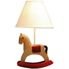 Modern Simple Creativity Shaking Horse Modeling Table Lamp Linen Shade