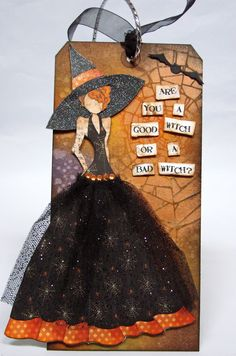 Photo Scraps - October 2, 2014 - Halloween/Fall Mixed Media Prima Doll Tag Class with Alice