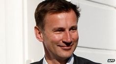 LEVESON/JEREMY HUNT TODAY GMT 10am CET 11am...Jeremy Hunt to face Leveson questioning.......Culture Secretary Jeremy Hunt is expected to defend his handling of News Corp's attempt to take over broadcaster BSkyB when he appears at the Leveson Inquiry into media ethics later today.