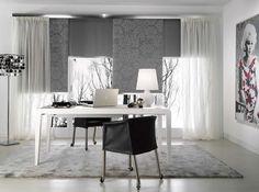 Projektujemy i szyjemy dekoracje okienne na indywidualne zamówienie. Zapraszamy do ShowRoom Częstochowa UL. Rejtana 25/35 tel. 609114338 Office Workspace, Showroom, Dining Table, Curtains, The Originals, Studio, Interior, Ul, Furniture