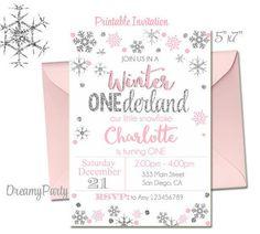 Winter Onederland Birthday Invitation Matching Items Https Www Etsy
