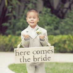 Cute for a ring bearer who can't carry the ring