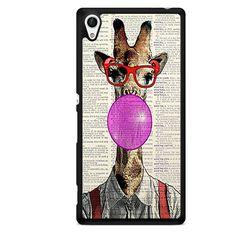 Giraffe Book Bubble TATUM-4664 Sony Phonecase Cover For Xperia Z1, Xperia Z2, Xperia Z3, Xperia Z4, Xperia Z5