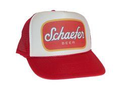 31e215fa Schaefer Beer hat Trucker Hat Mesh Hat new adjustable snapback red # Unbranded #TruckerHat Beer