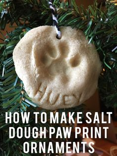 Learn how to make paw print ornaments DIY style and let your pets join in the tree decorating!