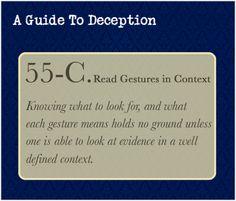 A Guide To Deception — A three part series taken directly from The...