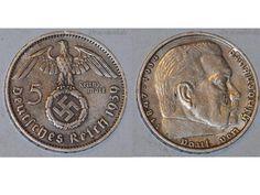 Germany 5 Mark Coin 1939 J Swastika Wwii German Hindenburg 3Rd Third Reich Ww2 http://ebay.to/1ZLSXsc