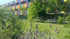 Jardín Albergue Centre Esplai Barcelona.