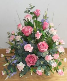 Artificial Silk Pink Rose Table Arrangement for Church, Beautiful Silk Flower Arrangements Church Wedding. Importance of Artificial/Fake/Faux floral Altar Flower Arrangements Ideas for bridal marriage event.