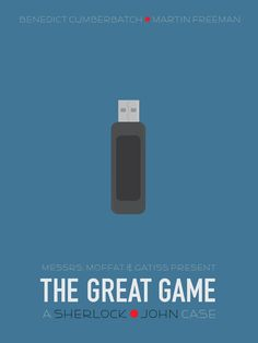 """Minimalist poster for BBC Sherlock's """"The Great Game"""". Sherlock Holmes Benedict, Jim Moriarty, Sherlock John, Benedict Cumberbatch, Sherlock Holmes Elementary, Sherlock Mind Palace, Sherlock Poster, Vatican Cameos, Benedict And Martin"""