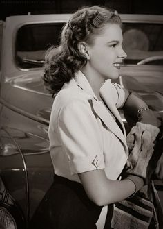 Judy Garland in one of the Andy Hardy movies