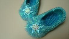 Frozen Inspired Elsa Crochet Slipper Sizes by HendrasHandcrafts