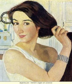 zinaida serebriakova | Zinaida Serebriakova. Woman at the Mirror. Self-Portrait ...