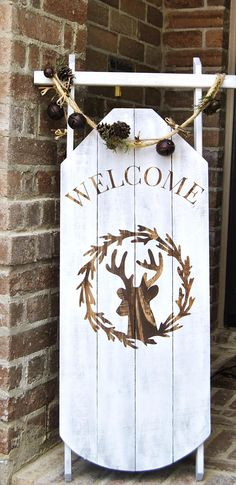SledDecorative Welcome Porch Sled Decorative Porch Sleigh