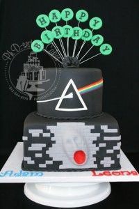 Pink Floyd-themed birthday cake. www.phderts.com
