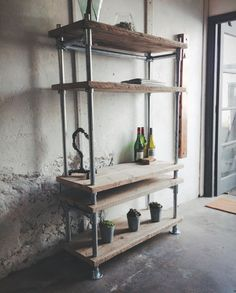 Revive Joinery - Reclaimed Wood Scaffold Board Industrial Pipe Shelving