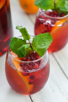 Pomegranate wine sangria for Christmas and beyond