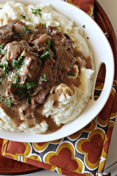 Easy Crock Pot Pot Roast with Gravy with cream of mushroom soup and onion mix