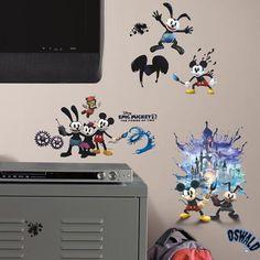 Adesivo removível infantil Epic Mickey – Roommates - CasaTema