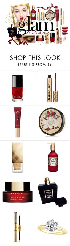 """""""Untitled #313"""" by d-ang-erous ❤ liked on Polyvore featuring beauty, Naeem Khan, Chanel, Too Faced Cosmetics, The Body Shop, Burberry, Pat McGrath, tarte, Tiffany & Co. and beautiful"""
